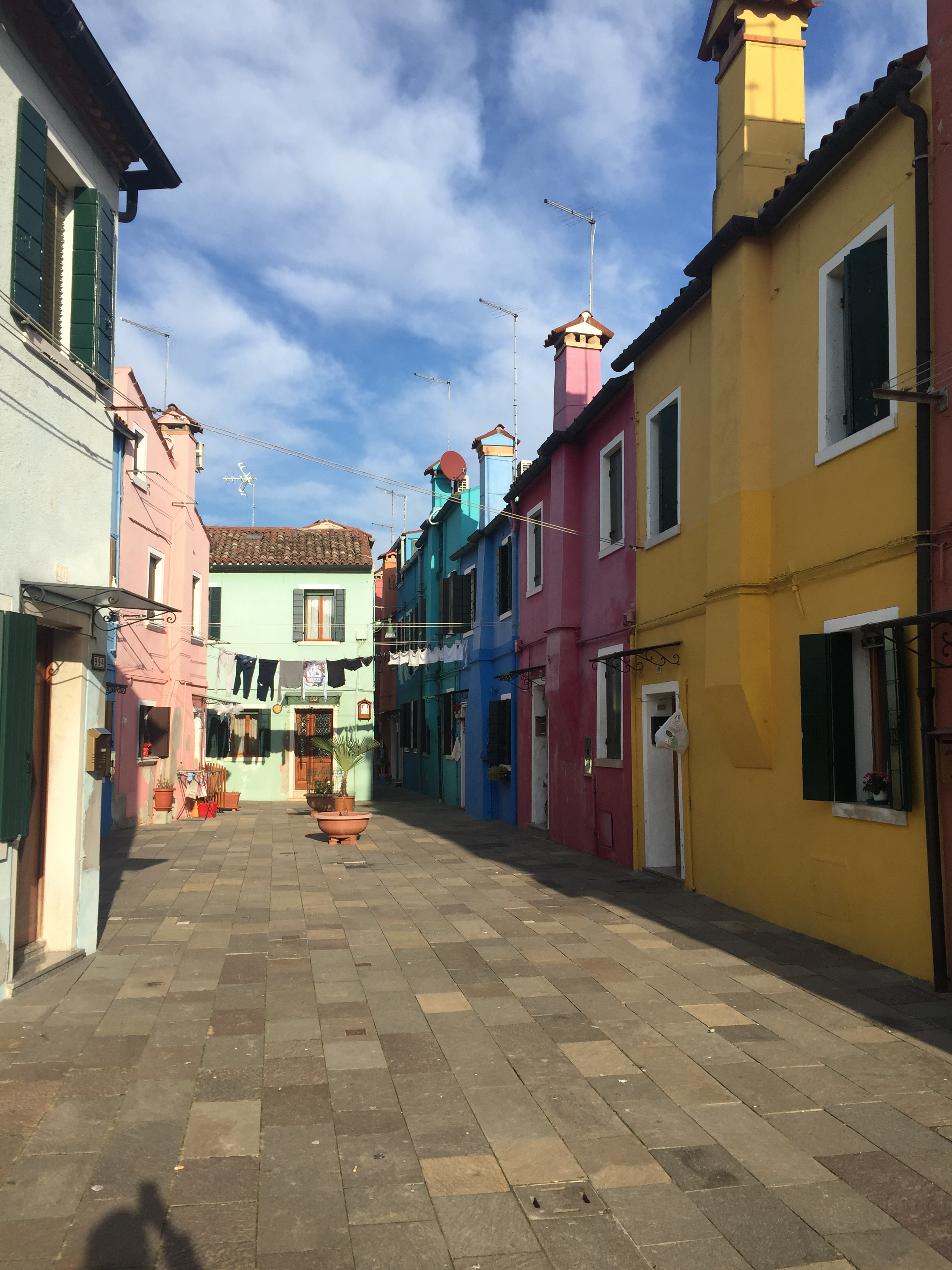 Brightly colored houses | EAT.PRAY.MOVE Yoga | Venice, Italy