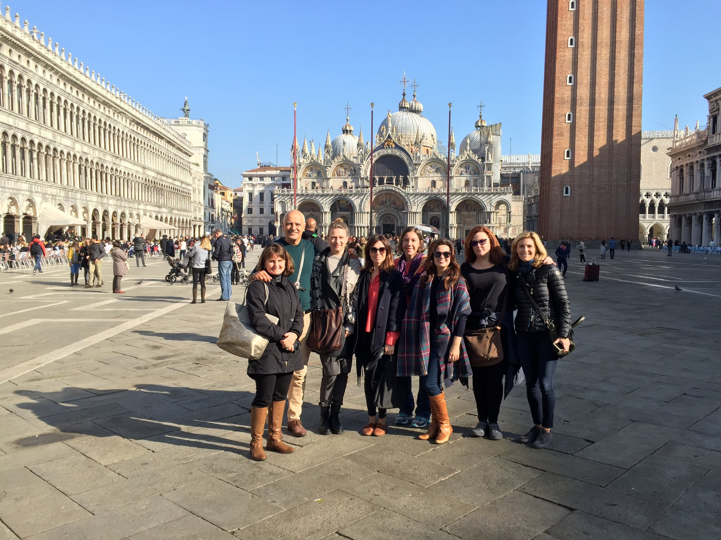 Our group in the Piazza | EAT.PRAY.MOVE Yoga | Venice, Italy