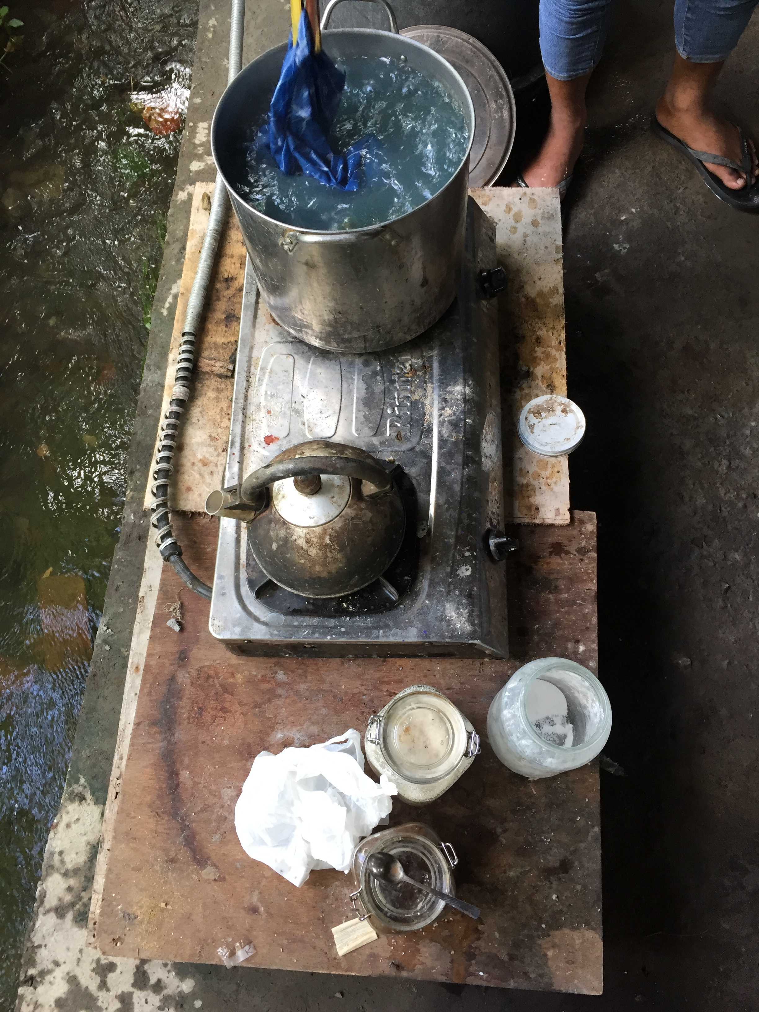 Dyeing materials