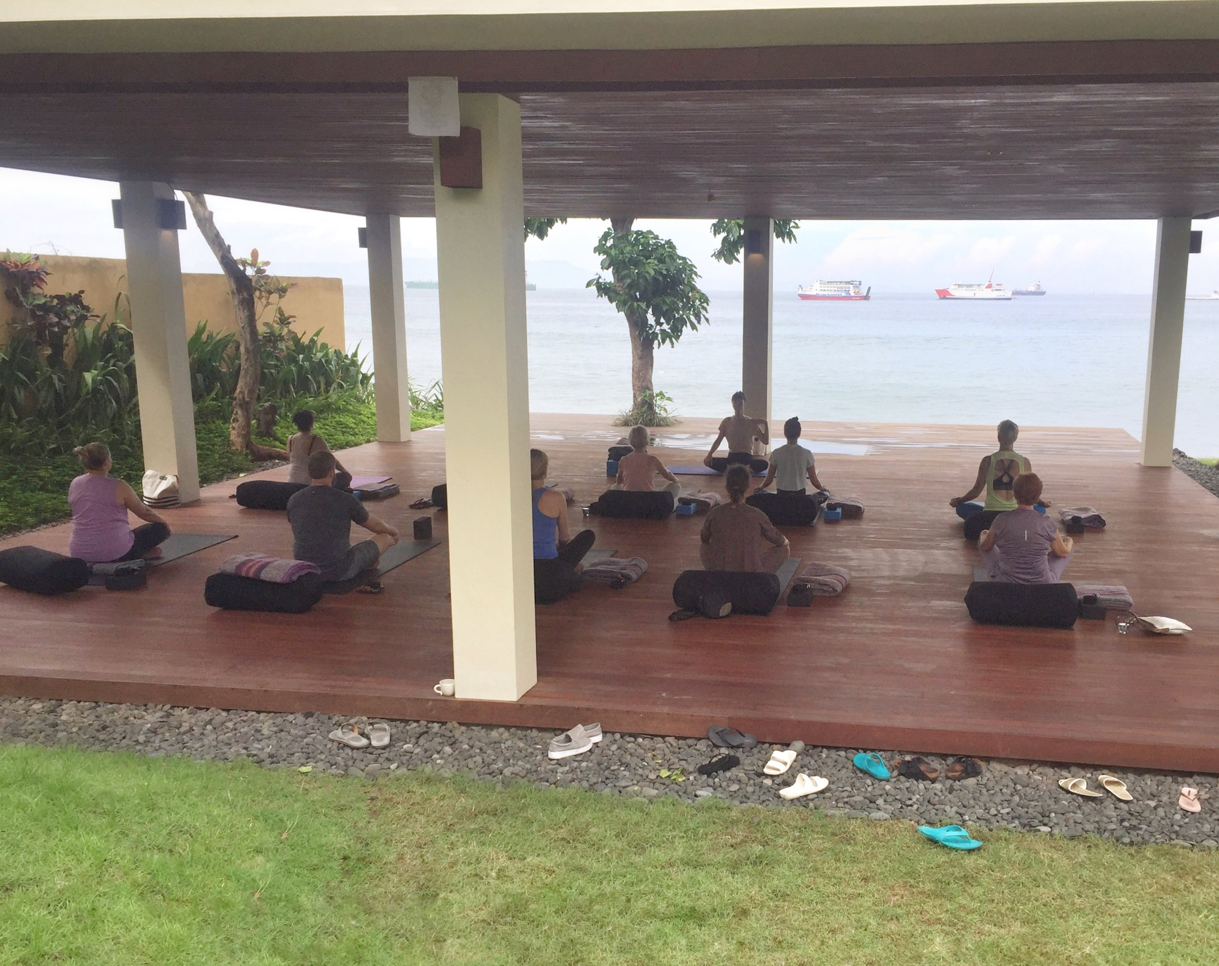 The hotel yoga pavilion by the sea | EAT.PRAY.MOVE Yoga | Bali, Indonesia