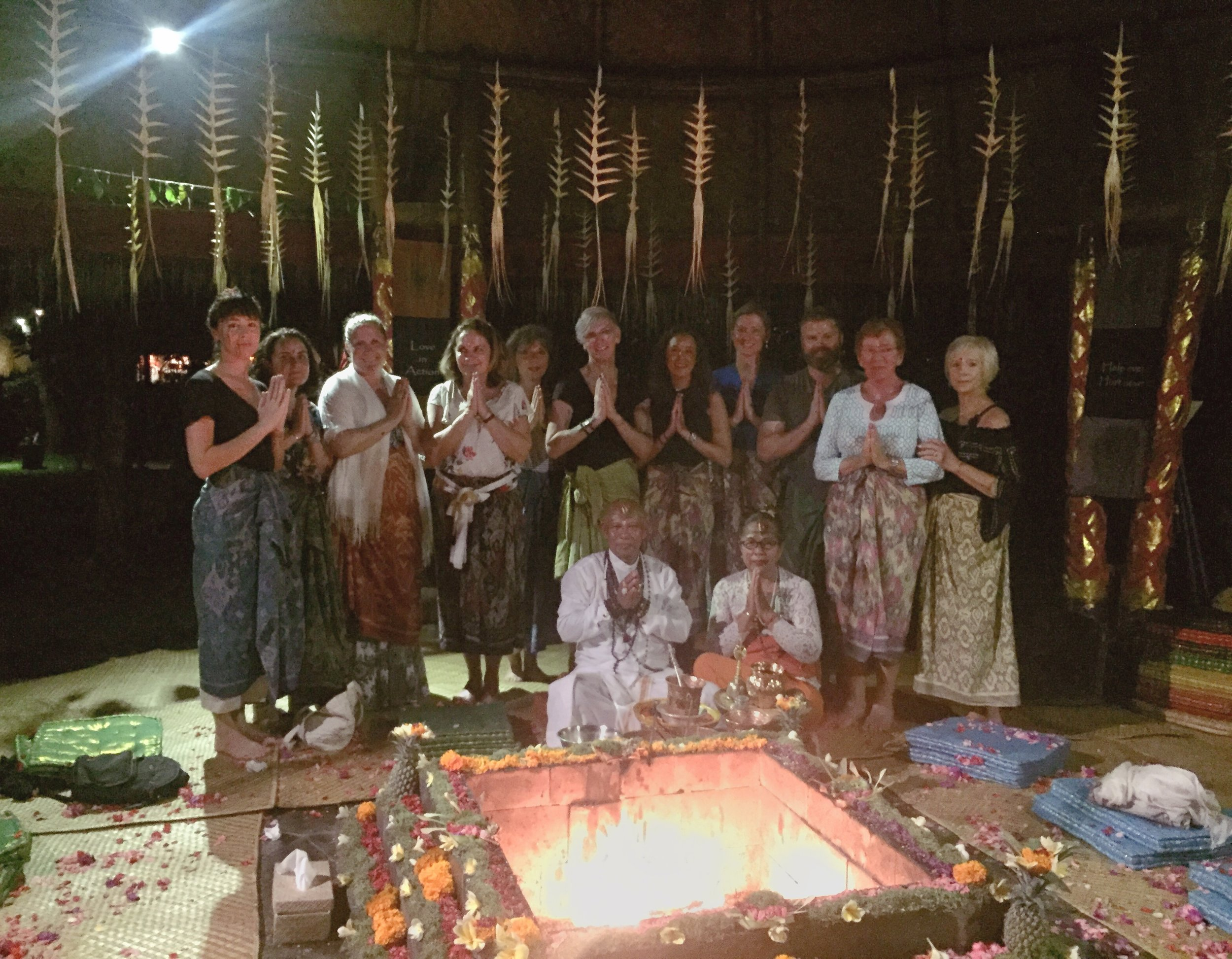 Our guests with Balinese healers | EAT.PRAY.MOVE Yoga | Bali, Indonesia