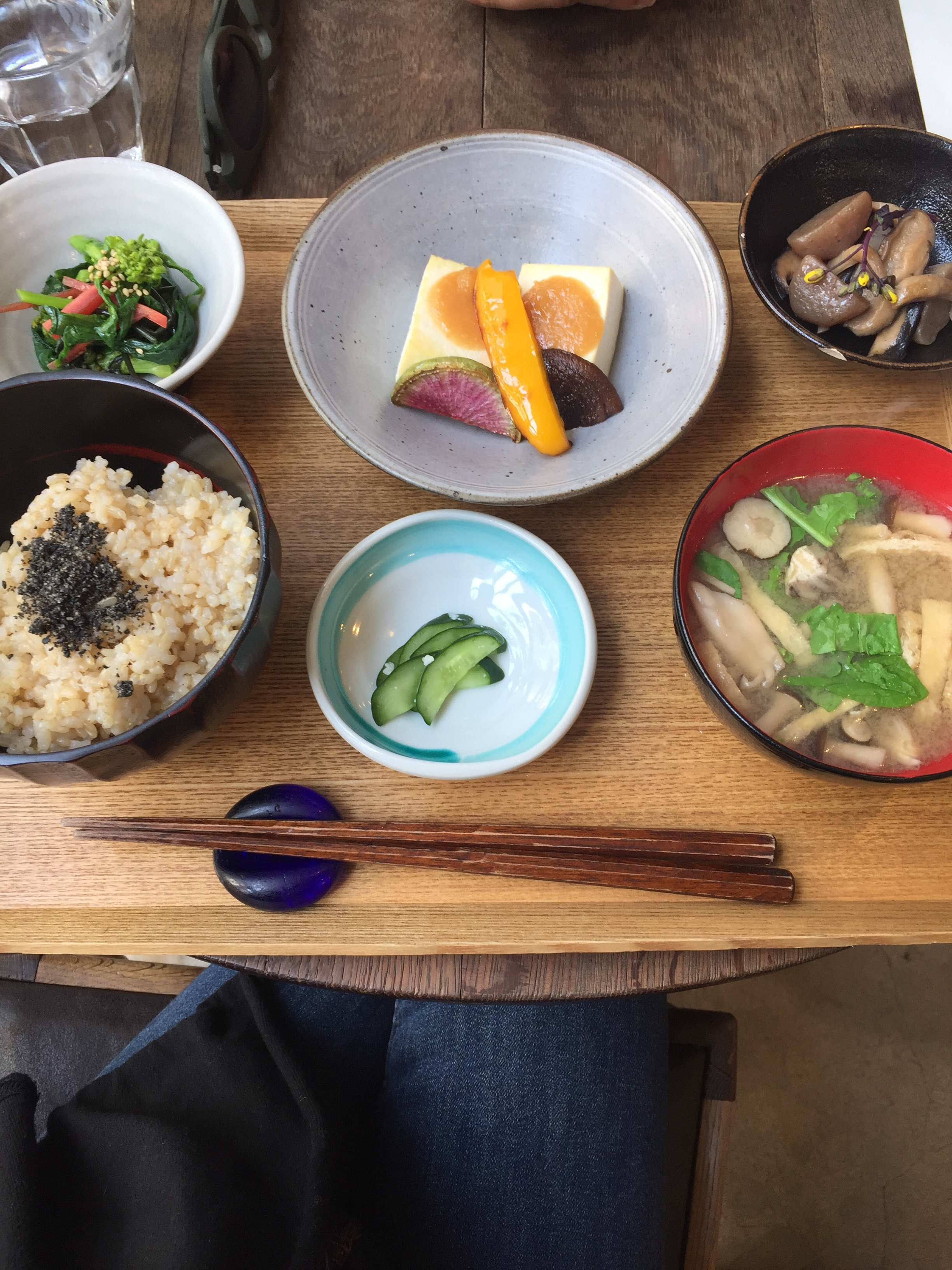Tofu, rice, greens and soup  | EAT.PRAY.MOVE Yoga | Kyoto, Japan
