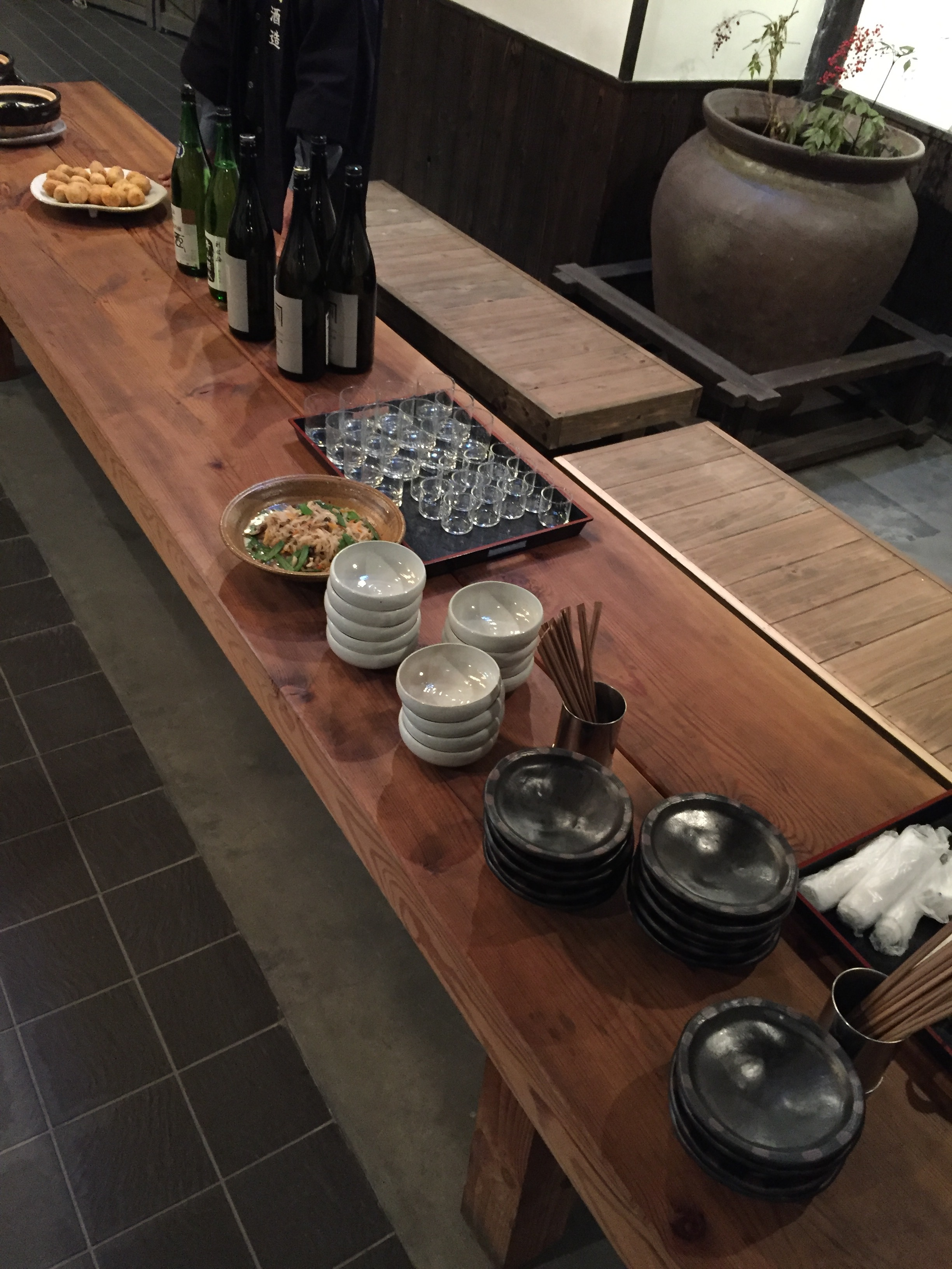 Sake and snacks at the brewery  | EAT.PRAY.MOVE Yoga | Kyoto, Japan
