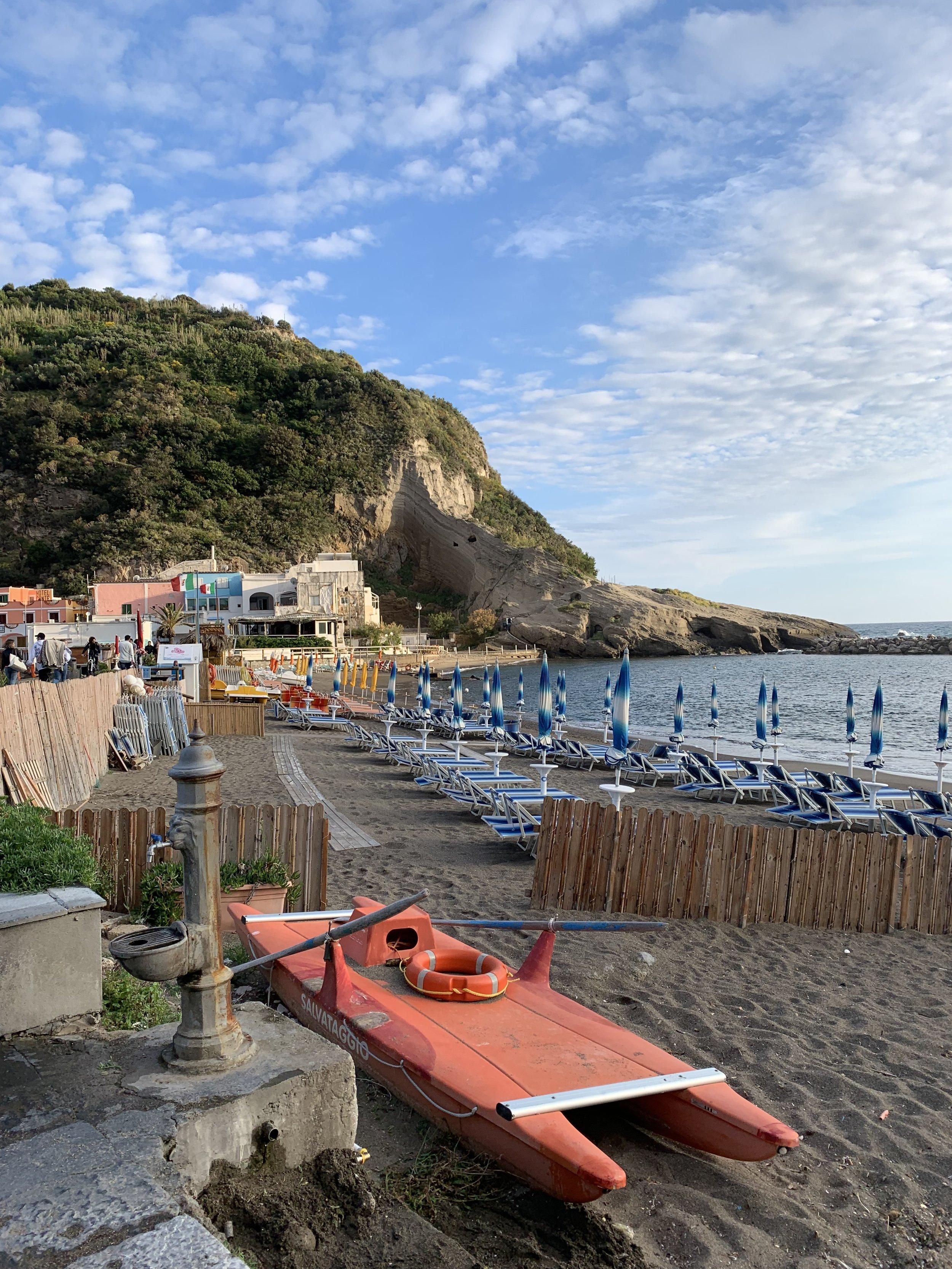 Beaches in Sant'Angelo | EAT.PRAY.MOVE Yoga Retreats | Ischia, Italy