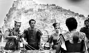 Film still from Cleopatra with Taylor + Burton