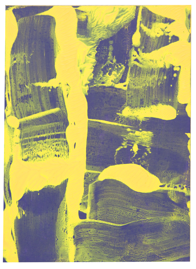 AZ#118 , acrylic and mixed media on paper, 2015, 7 x 5 in.