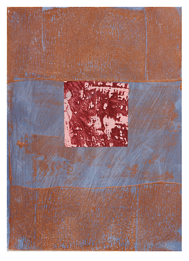 AZ#122 , acrylic and mixed media on paper, 2015, 7 x 5 in.