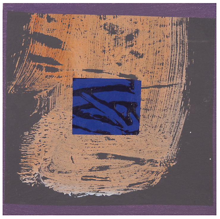 Birthday Square #7 , acrylic and mixed media on panel, 2015, 6 x 6 in.