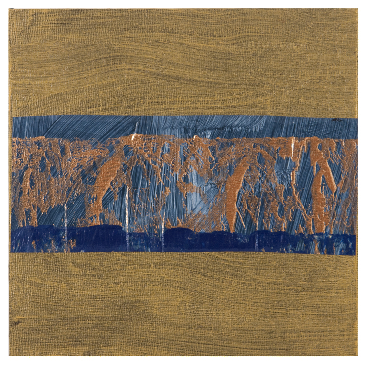 Desert Square #4 , acrylic and mixed media on panel, 2015, 6 x 6 in.