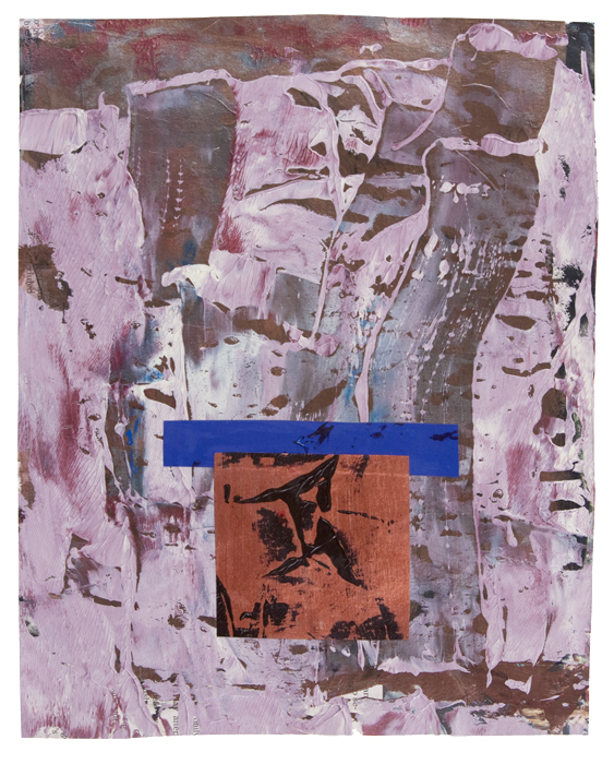 Since Then , acrylic and mixed media on paper, 2015, 14 x 11 in.