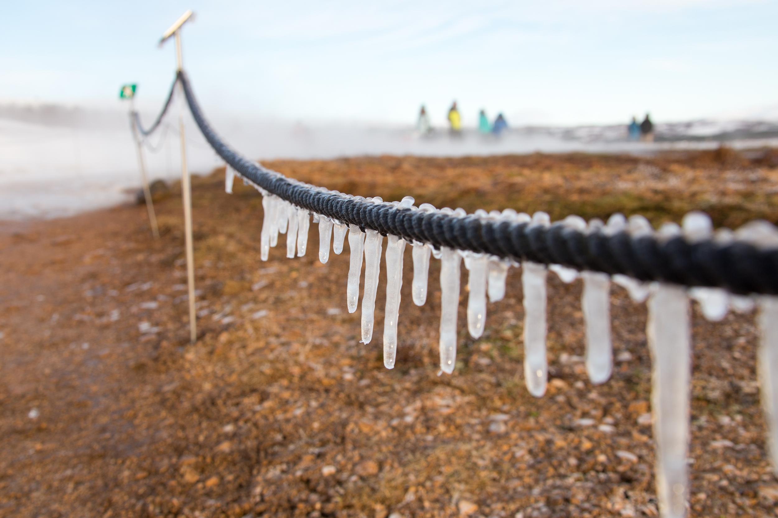 Frozen steam, Strokkur Geyser, Iceland