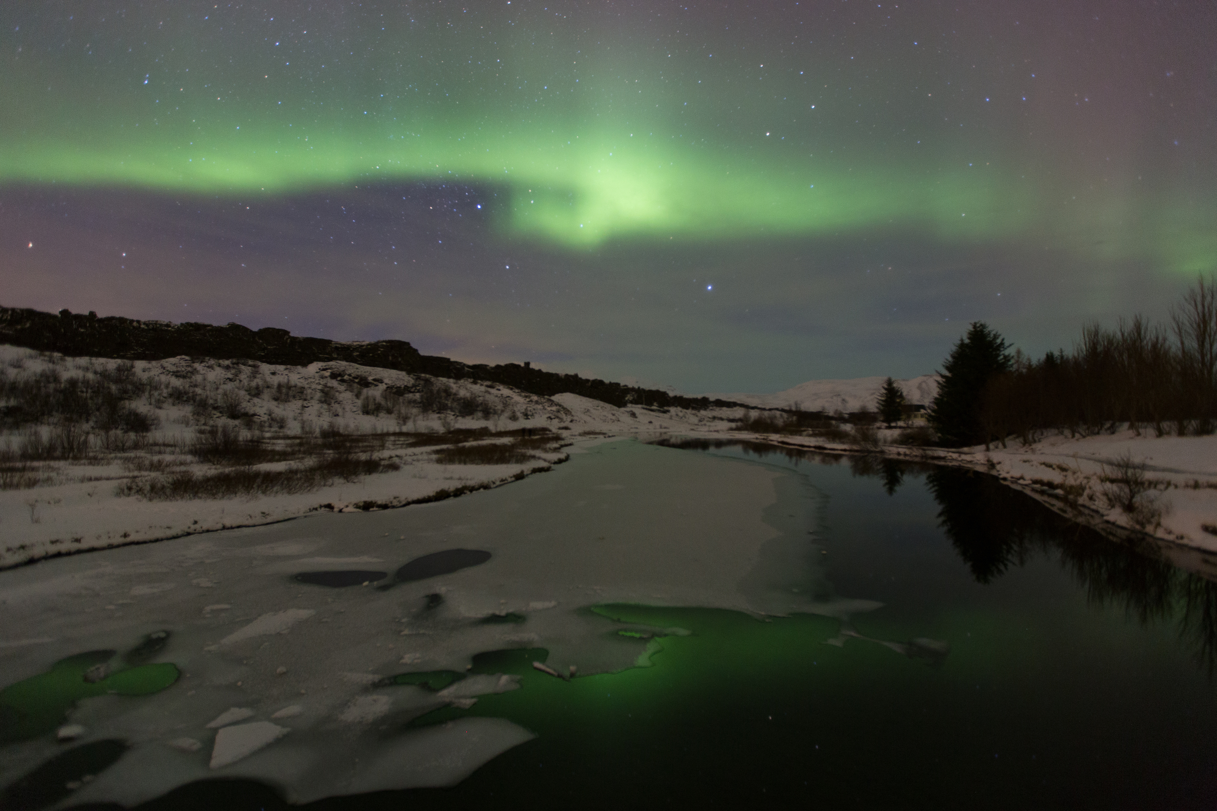 Northern Lights, Thingvellir, Iceland