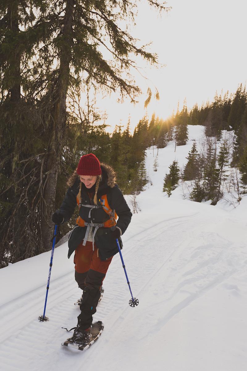 Snowshoeing bliss. (photo by Eirik Mjøen)