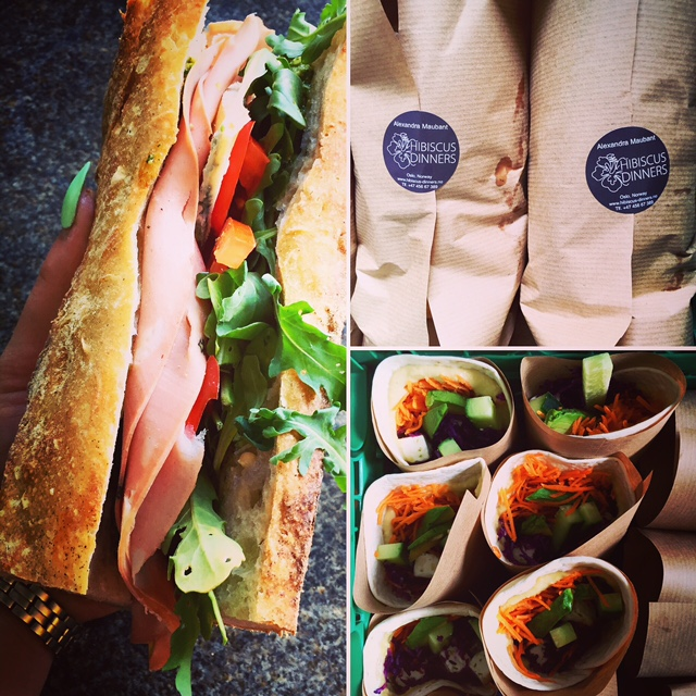 Hibiscus Dinners lunch: choose your option sandwiches, wraps, salad or warm lunch box!