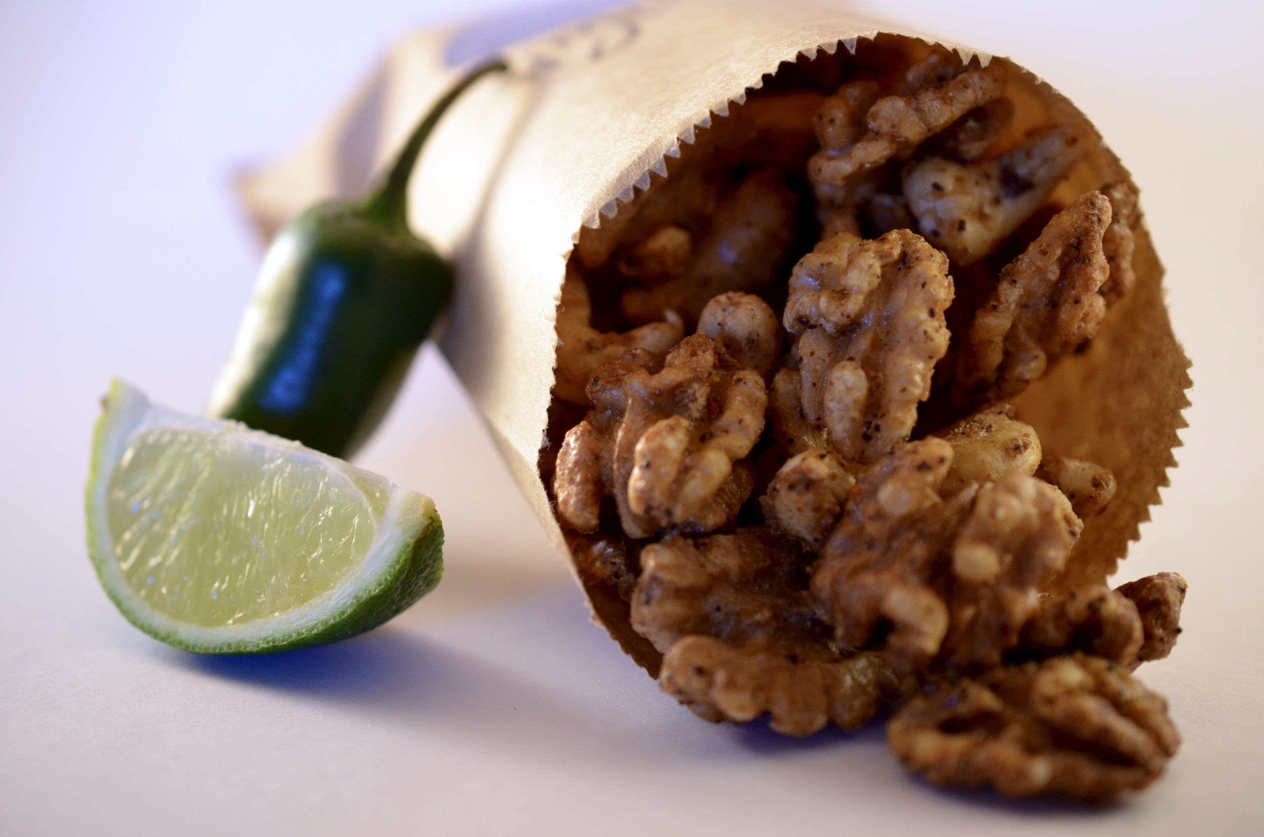 Hibiscus Dinners street food: homemade spicy nuts made for the Sofienberggate Festival 2016