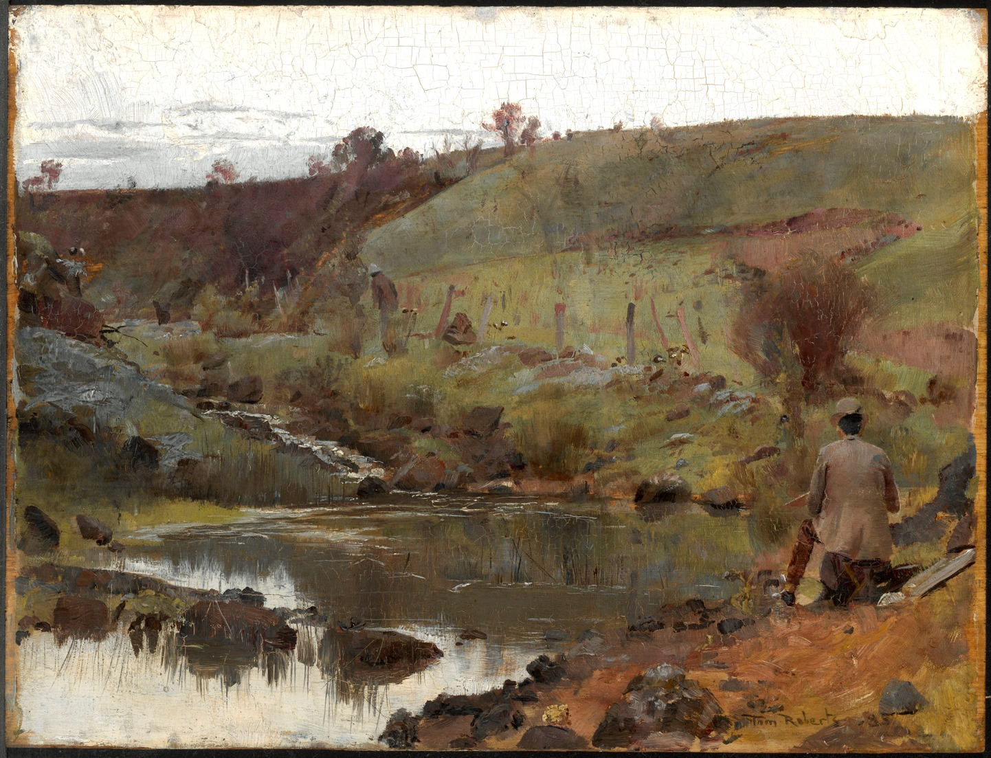 Tom Roberts  A Quiet Day on Darebin Creek , 1885 Oil on wood panel 26.4 × 34.8 cm National Gallery of Australia, Canberra Purchased 1969 © National Gallery of Australia, Canberra