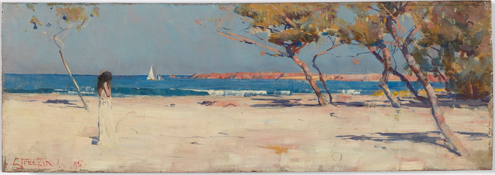 Arthur Streeton,  Ariadne , 1895 Oil on wood panel 12.7 x 35.4 cm National Gallery of Australia, Canberra, Members Acquisition Fund 2016 © National Gallery of Australia, Canberra