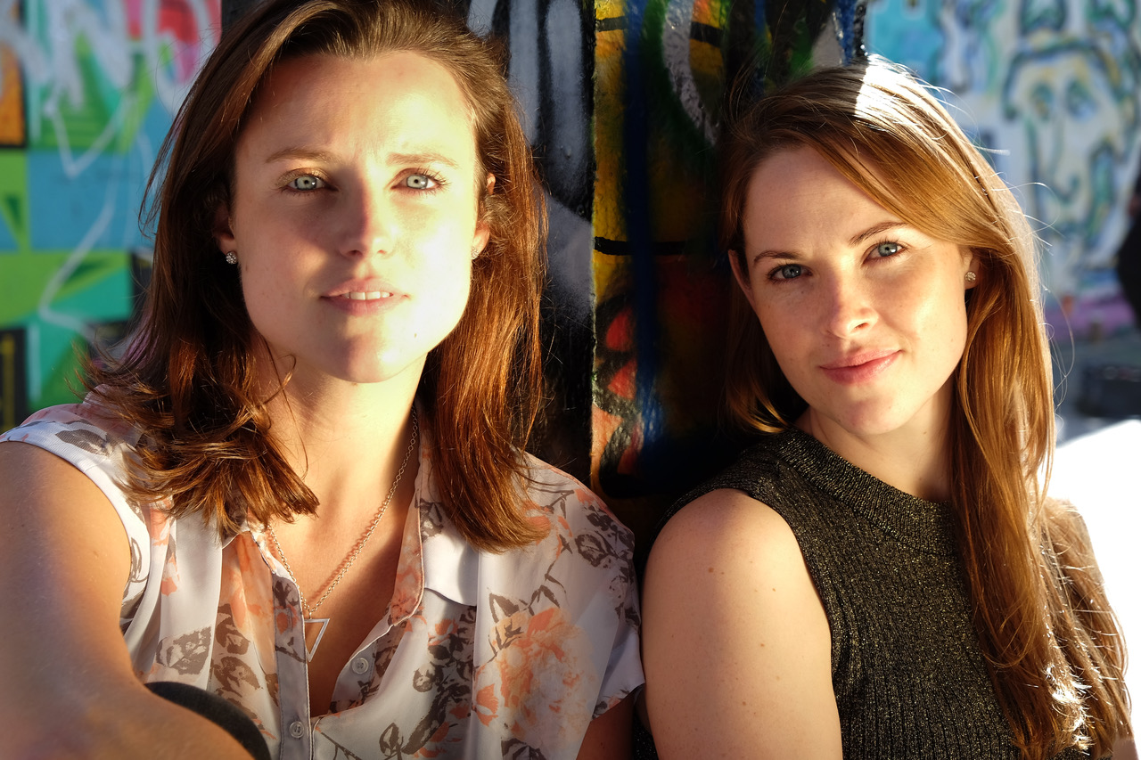 Emma Playfair (left) and Lily Newbury-Freeman (right) from NewPlay Productions. Photo credit:Zoe Tigner and Guy Noar