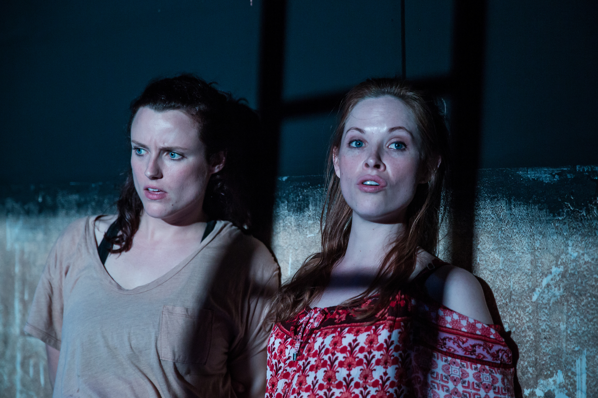 Emma Playfair as Elma (left)Lily Newbury-Freeman as Nancy (right)Food, by Steve Rodgers.Photo Credit:The Other Richard