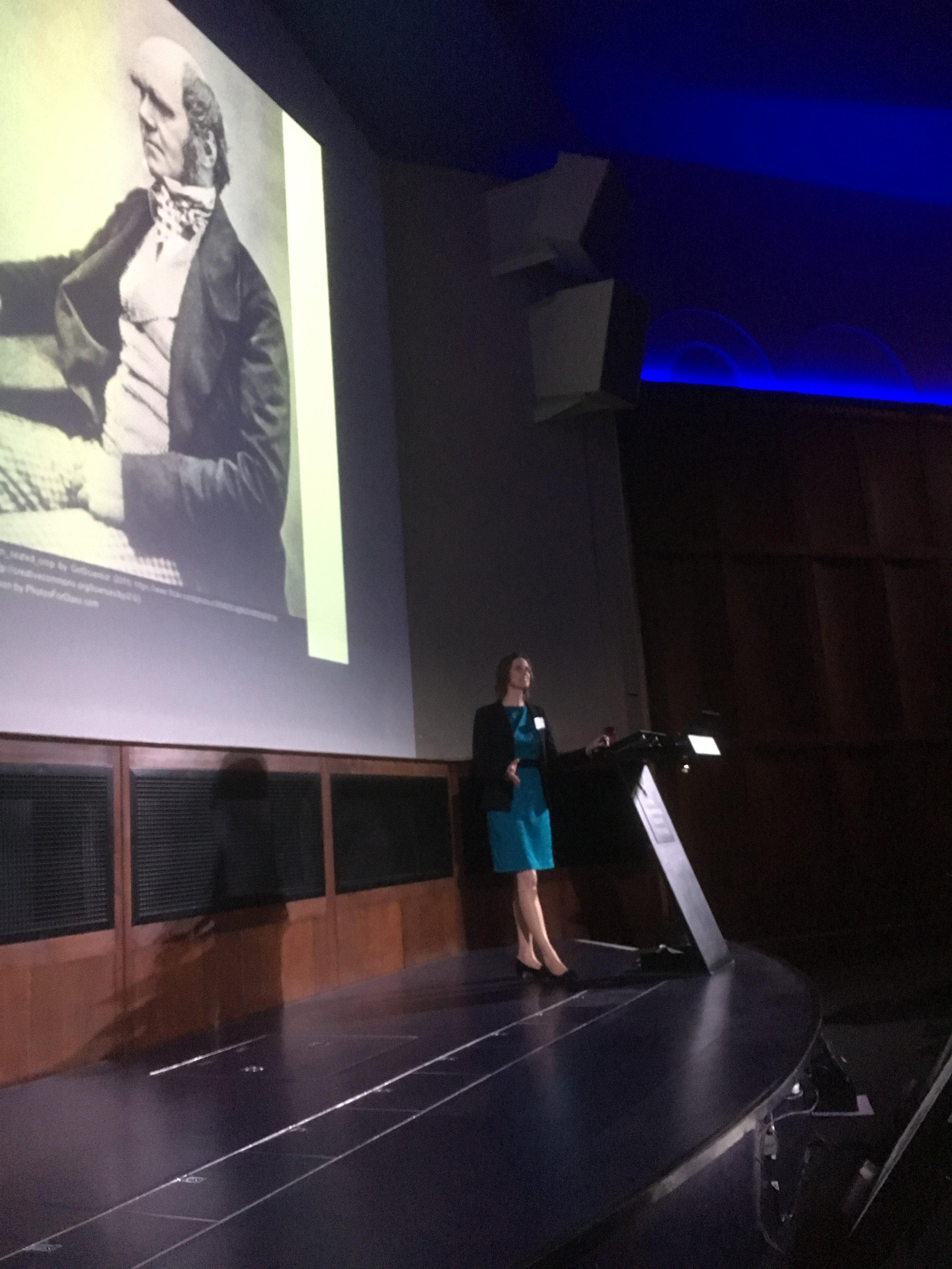 Dr Jody Gunn addresses an audience at the Royal Geographical Society,2017. Photo Credit: Bush Heritage Australia
