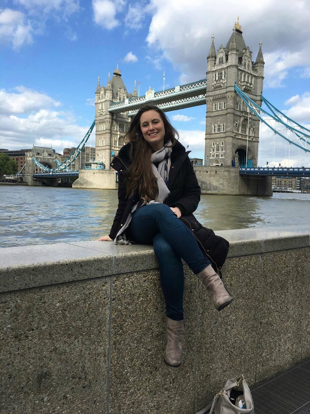Courtney Ireland by Tower Bridge