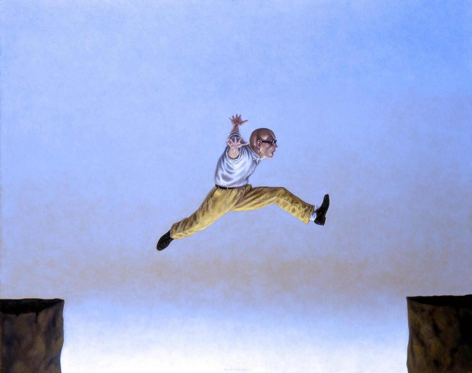Welcome page: Jumping Man by David Dalla Venezia