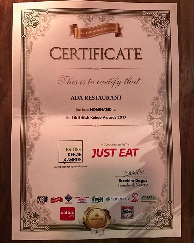 #HappyNewYearEVERYONE 🎉🍾🍾🎉🎉 'A good beginning makes a good end' and heres our good ending of 2016 to a good start to 2017 #BestNewComerNomination2017 thanks to #BritishKebabAwards  Hope you all have a great new year! Ps don't forget to make a wish at 00:00 midnight 😉🎉🍾🍾 #britishkebabawards #Nominated #5thbritishkebabawards2017#AdaRestauranEDINBURGH  http://www.britishkebabawards.co.uk/british_kebab_awards_2017_nomination