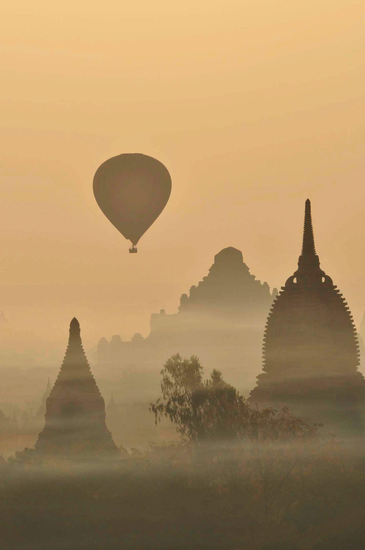 Balloons over Old Bagan, Myanmar
