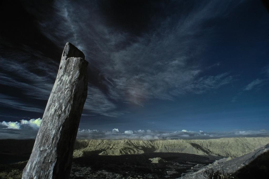 Lone Log at Mount Batur