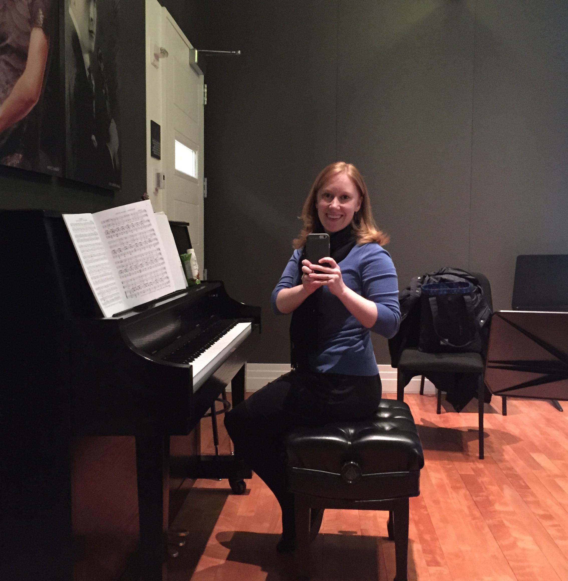 Carnegie Hall practice room selfie - 2015