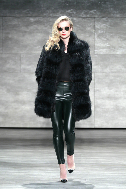 Dark hunter green silver fox chubby, Fall 2015-Winter 2016. See all under collaborations at JonevonFurs.com