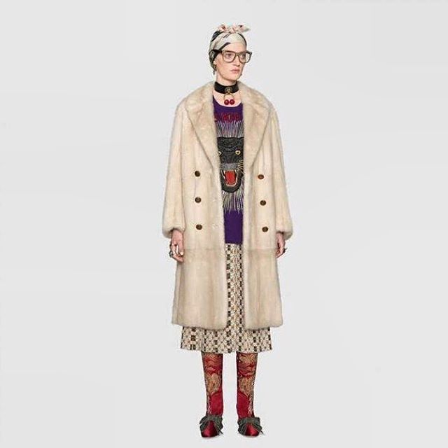This latest Gucci design can easily be yours by refurbishing a classic mini coat #update #furdesign #customorder #jonevonfurs