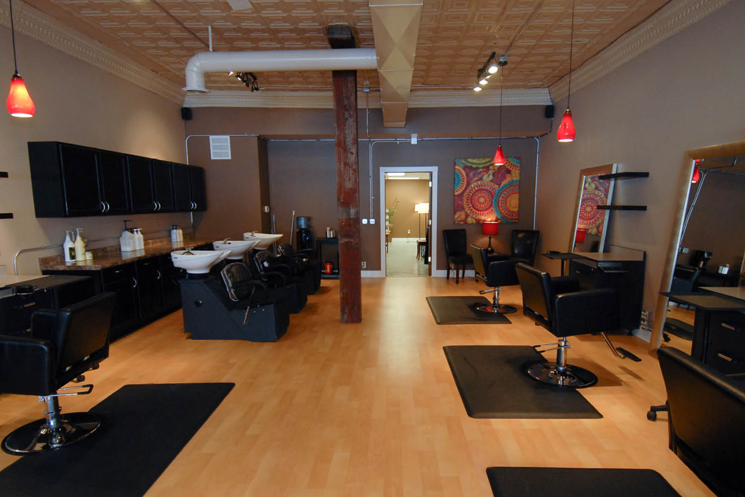 hair stylists stations at eve a salon and spa in Lincoln, NE