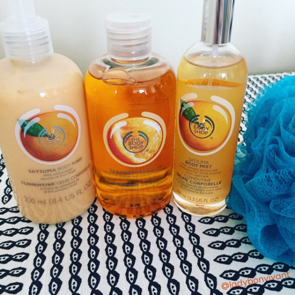 Satsuma collection from The Body Shop