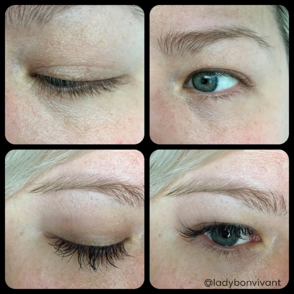 Top row - before lash extensions. Bottom row - after lash extensions.