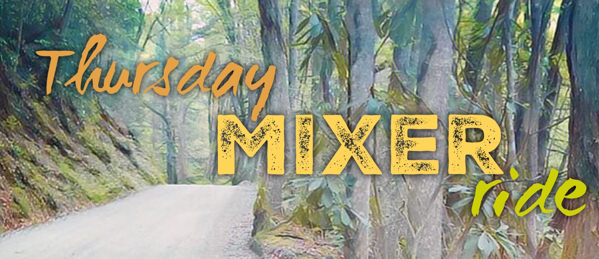 EVERY THURSDAY (starting July 18th) @ 6pm for the Thursday MIXER ride.   This mixed surface ride is a 21-mile route with almost 2,400 feet of climbing and features two beautiful segments of gravel. Gravel bikes, cyclocross bikes or road bikes with at least 28mm tires are recommended.  Roll from Rhoddie Bicycle Outfitters @ 6pm  CLICK HERE TO SEE THE ROUTE:  https://ridewithgps.com/routes/30479628   More Info Here:  https://www.facebook.com/events/2063883817250859/