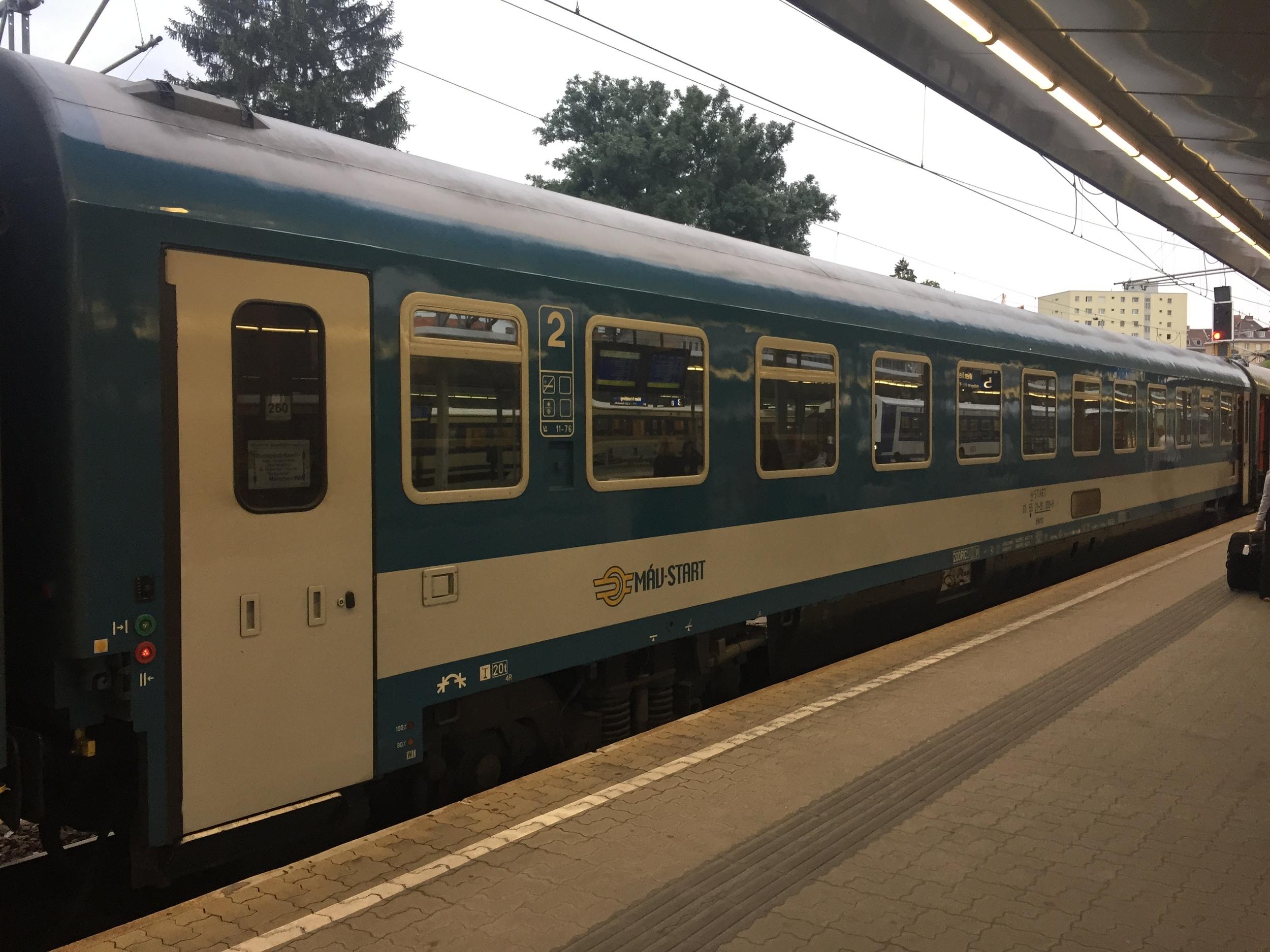 My railcar on EN 463