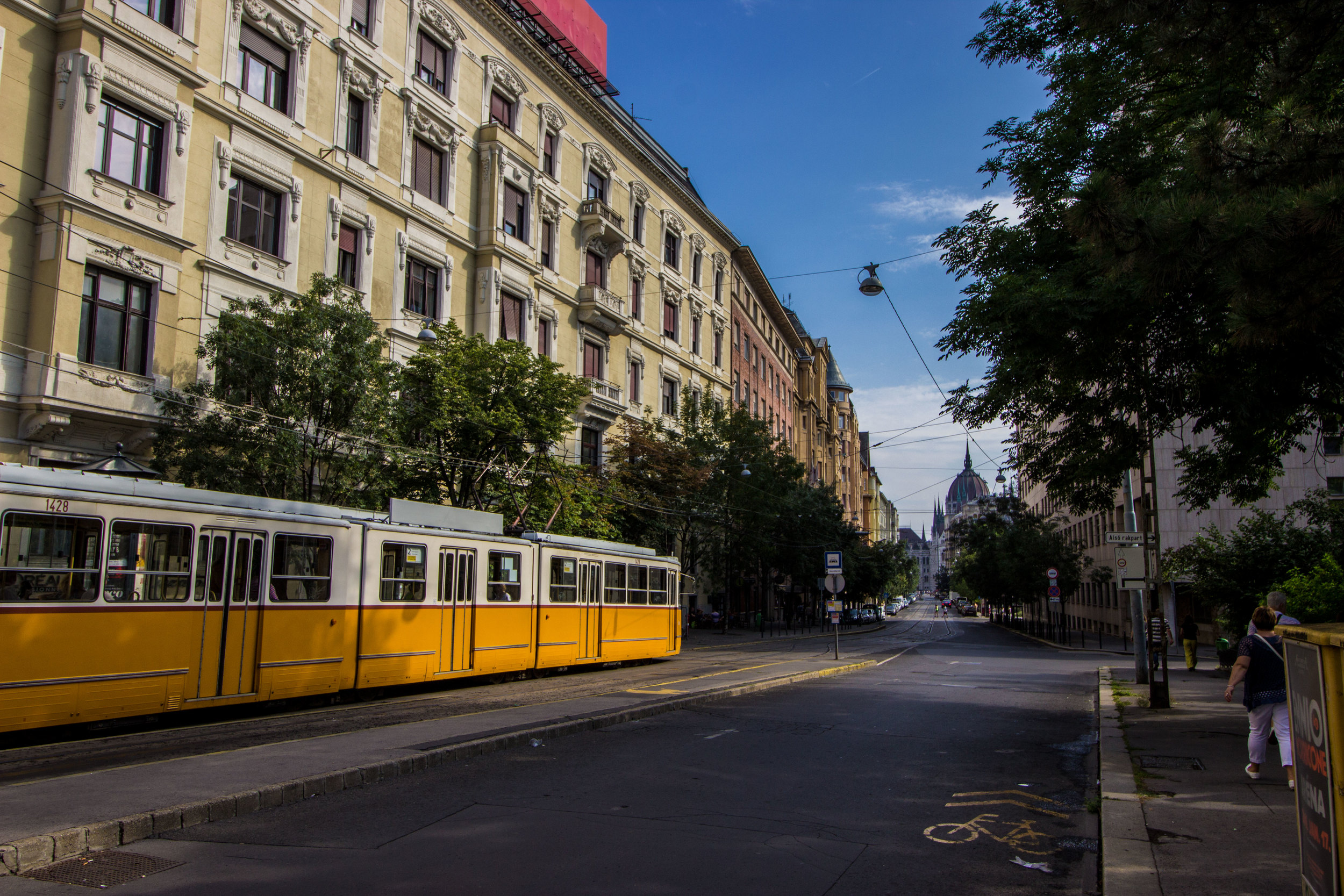 Tram 2 is the most famous of Budapest's 30+ lines. It runs parallel to the Danube, providing stunning panoramic view of the city and stopping along some of Budapest's most well-known landmarks.