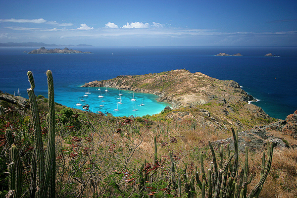 // Anse de Colombier →<p>On the north tip of St. Barths, a stunning panorama awaits those willing to make the short hike above this storybook anchorage.</p>