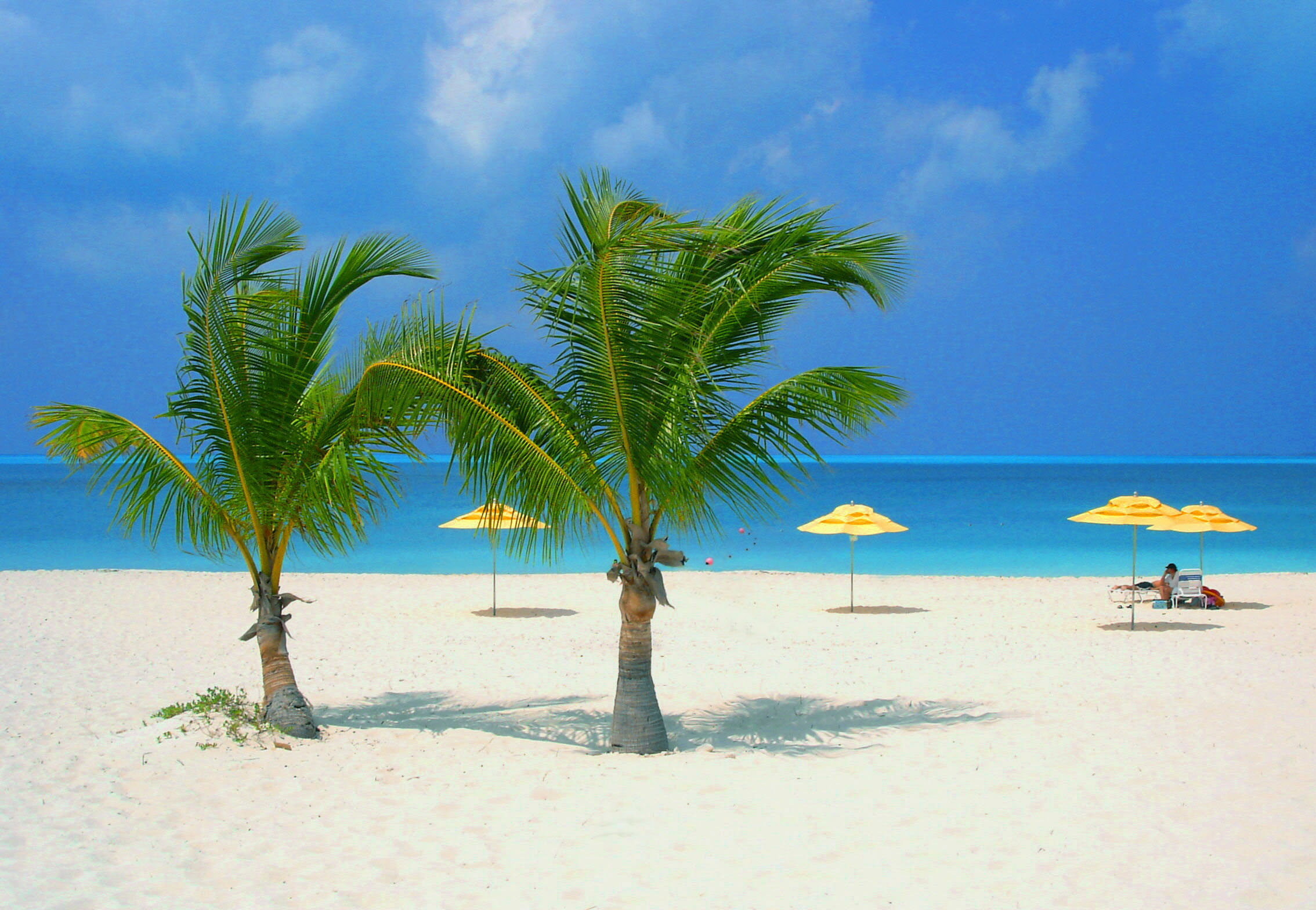 // Treasure Cay →<p>It's famous resort lies along 3-miles of white sandy beach. We'll find a private patch and enjoy.</p>