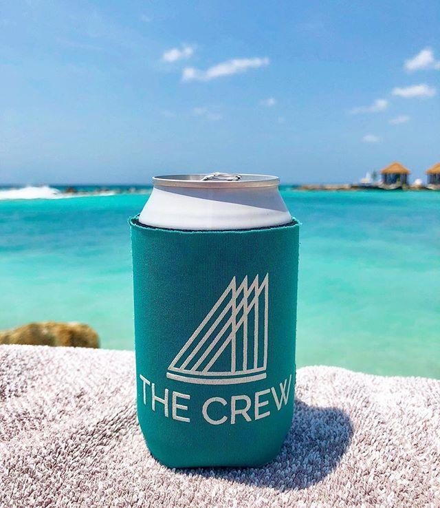 Aruba: where your koozie matches the water 🌴 // #itsyourcrew #aruba #islandlife 📷 @seano_nyc