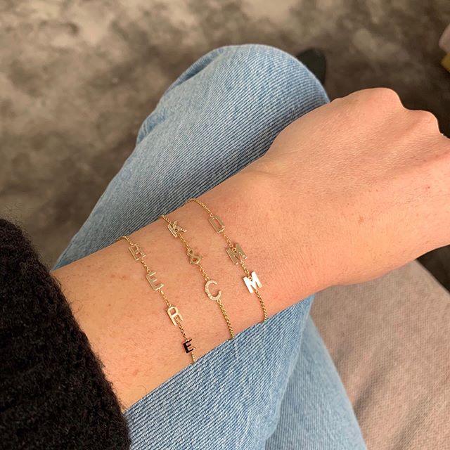 Mini Letter Bracelet | encuéntranos en @feriaburo