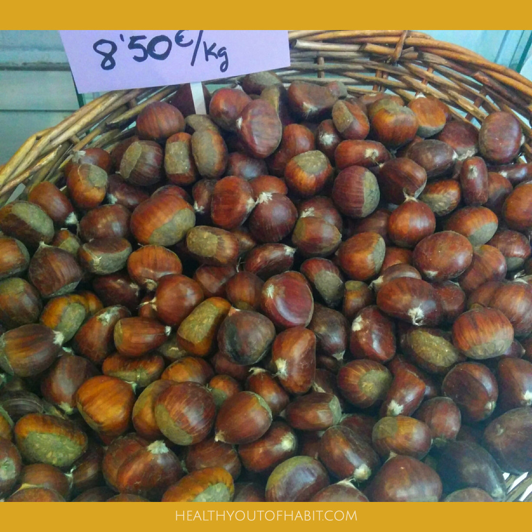 Chestnuts at the local market