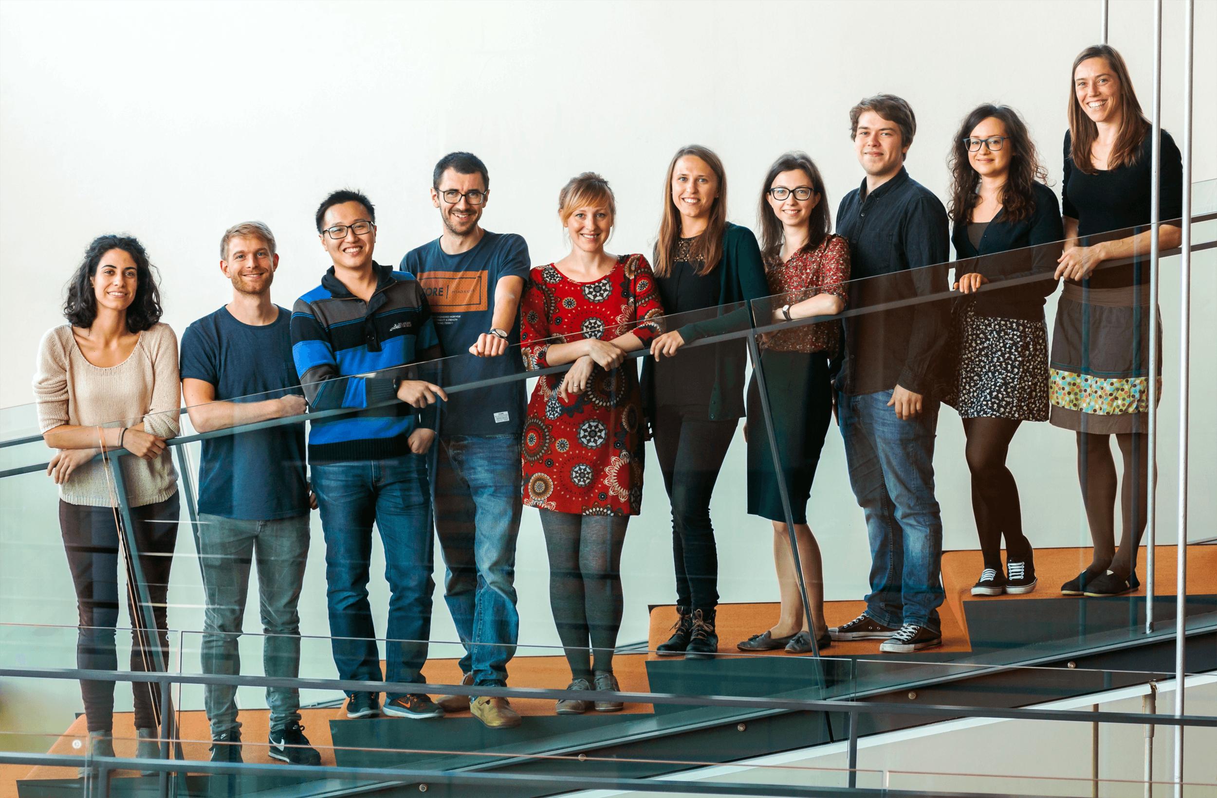 Treutlein group in October 2018 (missing: Sabina Kanton and Johannes Krumm)
