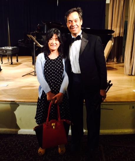 With Daniel Cher, violin