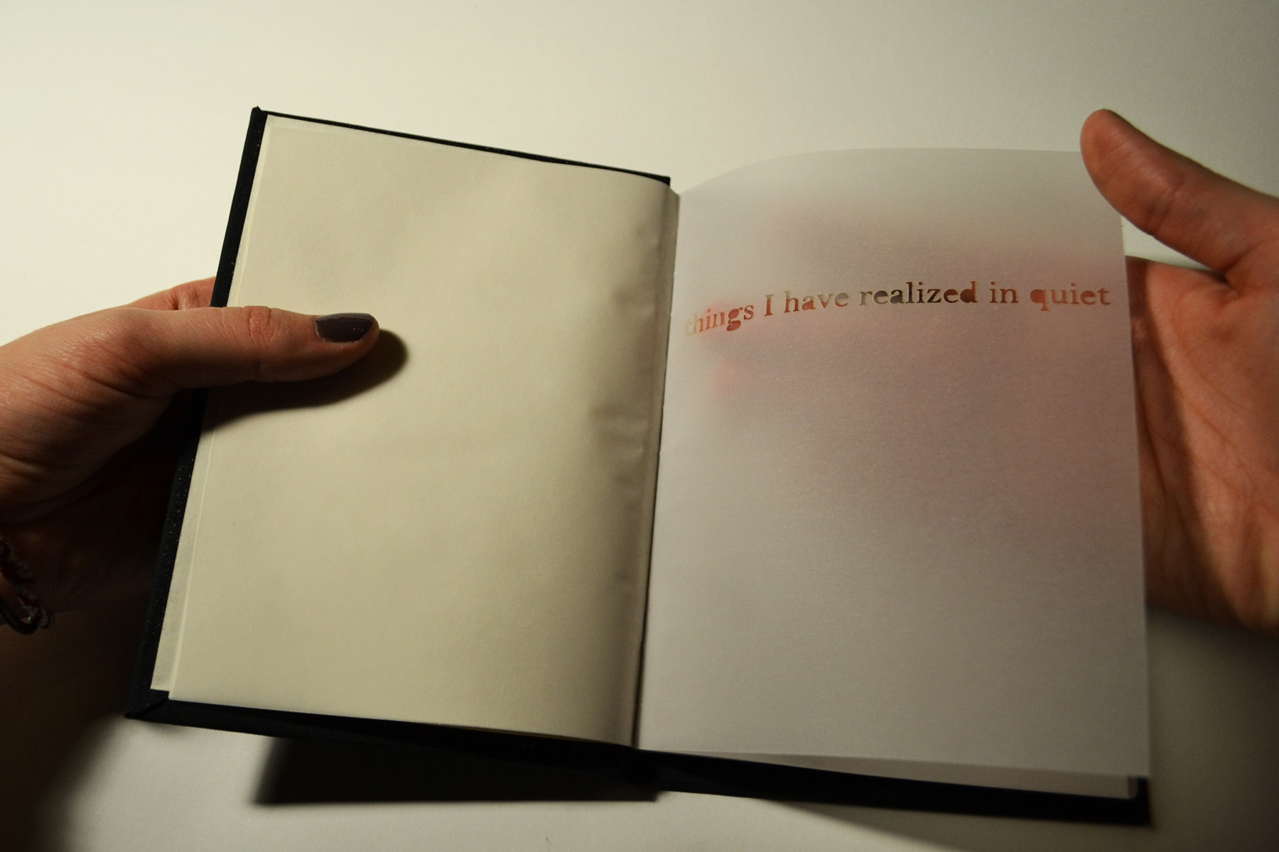 things I have realized in quiet, 2012