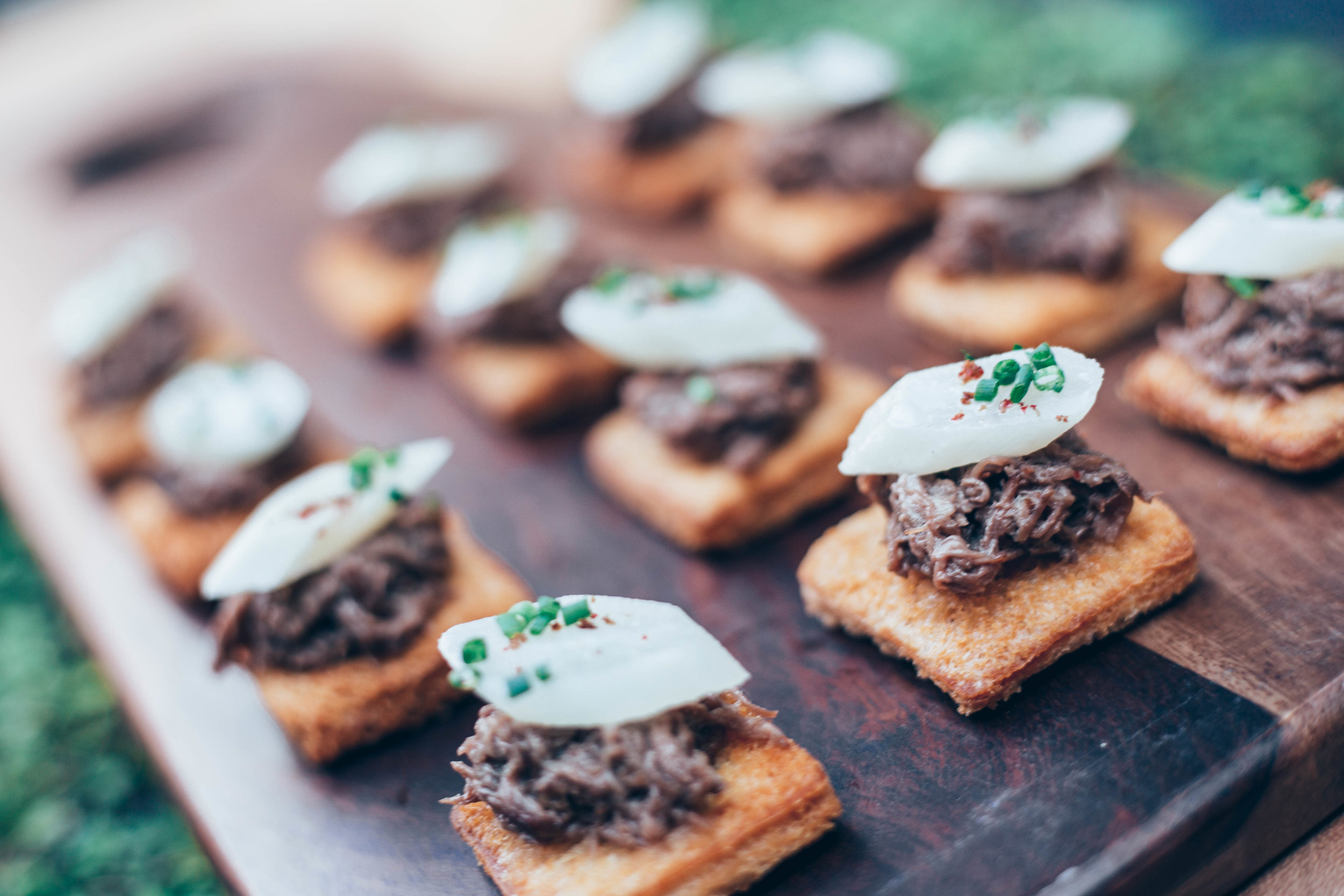 Short Rib Crostini with Salsafit