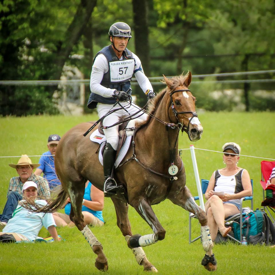 Matt Brown and Super Socks BCF on course at 2017 Rolex Kentucky 3-Day Event - Photo Credit: Cindy Lawler