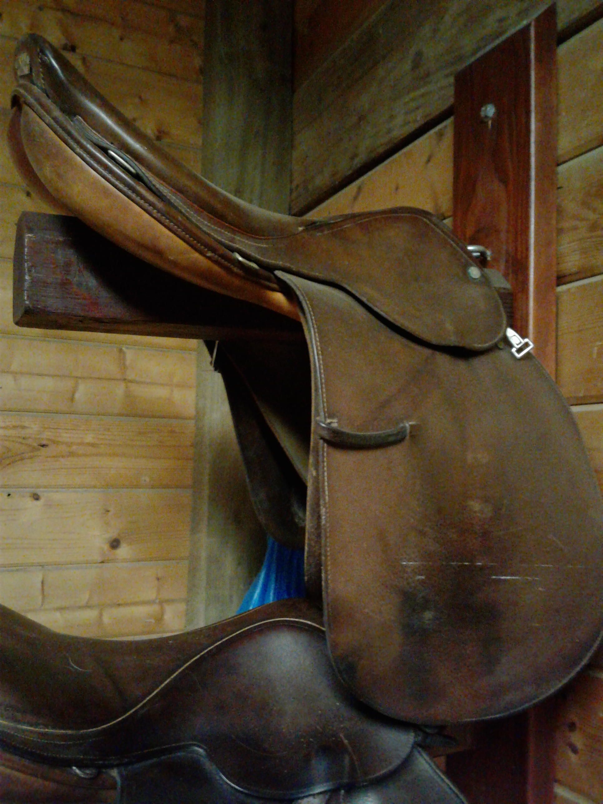 Saddles in need of TLC during storage