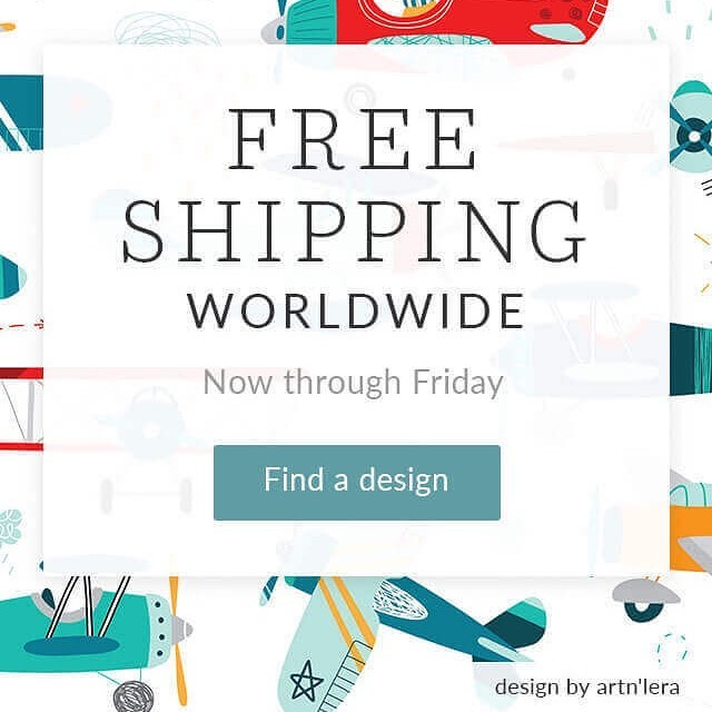Get FREE shipping worldwide on your next order in my Spoonflower shop. See link ik bio.